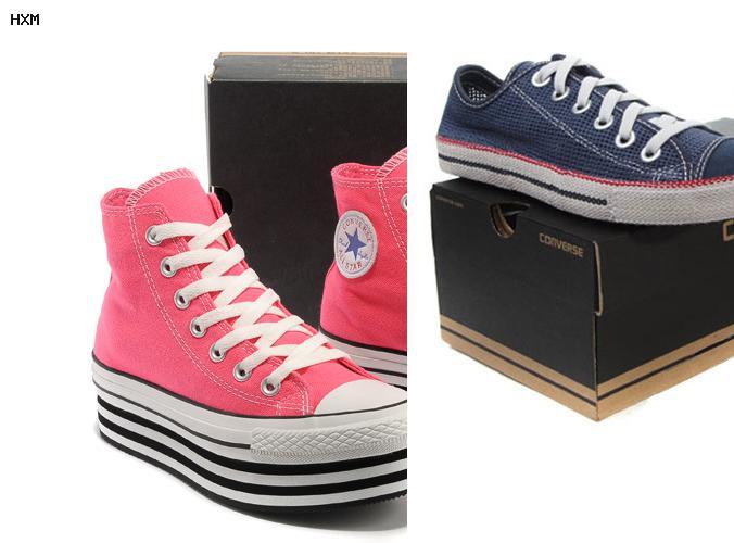 zapatillas converse de cuero blancas mujer